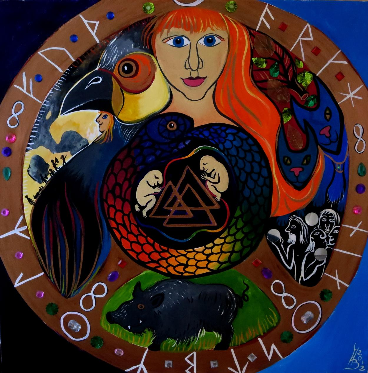 Shamanic teacher, painter and author in the UK and the world